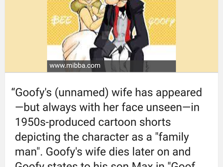 The Mysterious Mrs. Geef (aka GOOFY'S WIFE)