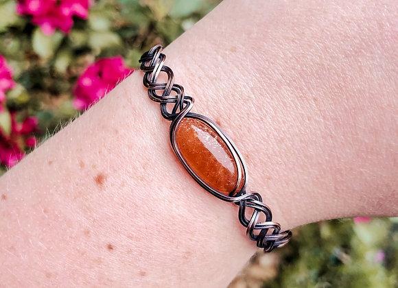 Sunstone Braided Bracelet