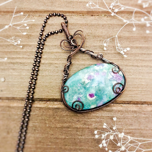Wide Ruby Fuchsite in Copper