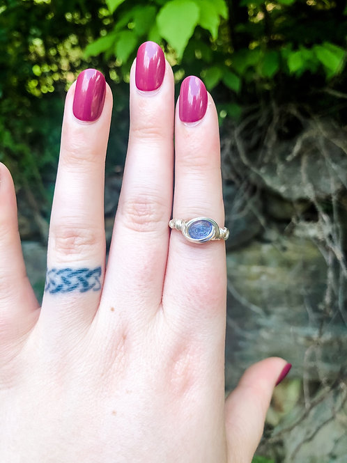 Custom Order Tanzanite Ring in Sterling Silver