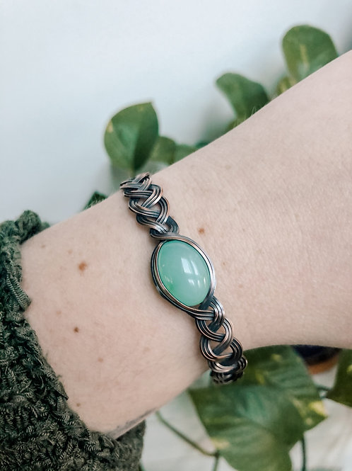 Chrysoprase Braided Bracelet