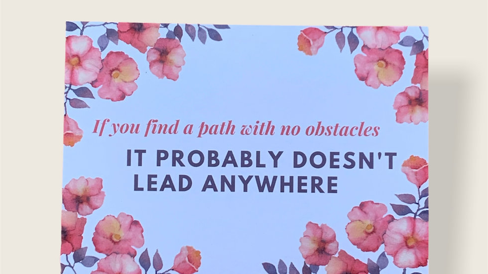 If you find a path