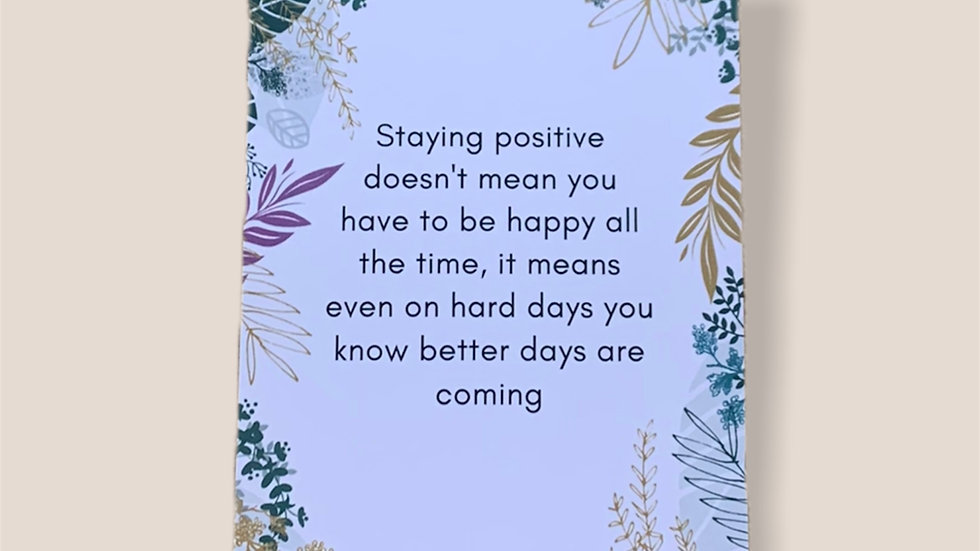 Staying Positive