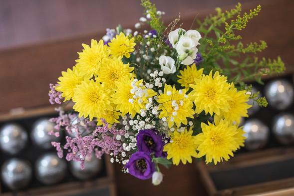 Blumen im Gästehaus