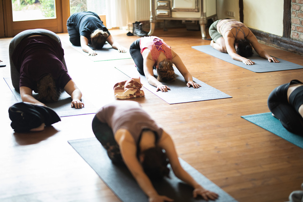 Yoga in the guest house