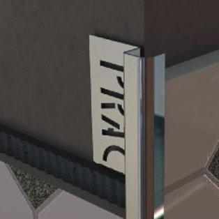 Внешний полукруглый профиль из нержавейки KUR 2,7м