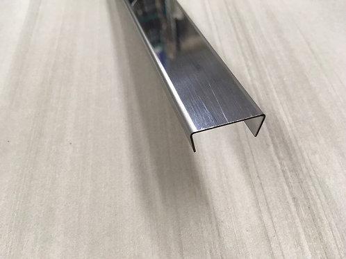 П-образный профиль из нержавейки ПП005-12 (12х25х12мм) 2,7м