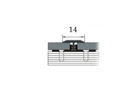 Порог из латуни 14мм (т-образный, 2,7м)