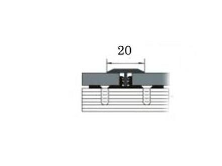 Порог из латуни 20мм (т-образный, 2,7м)