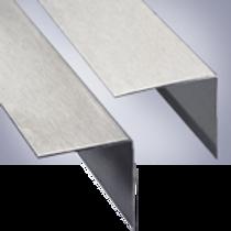 Алюминиевый угол с декоративным покрытием без отверстий 2,7м