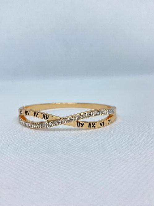 14K Gold Plated Infinity Bangle Bracelet