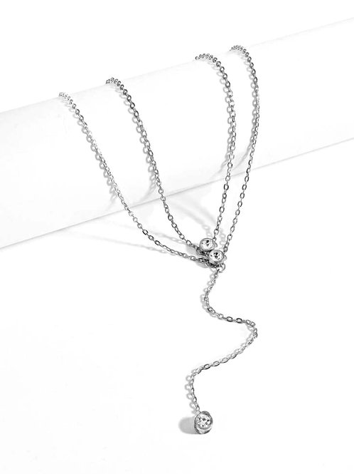 Sariah Sterling Silver Layered Necklace
