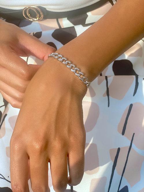 The Boss Cuban Link Bracelet- Silver