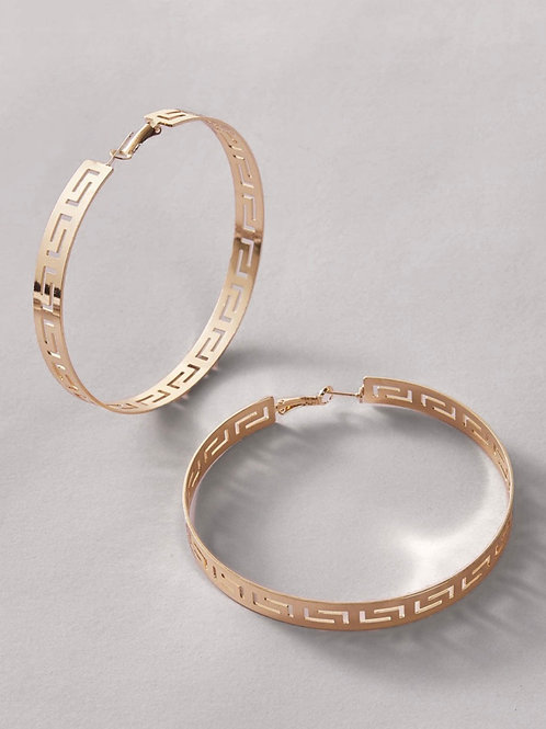 Oversized 14K Gold Plated Hoops