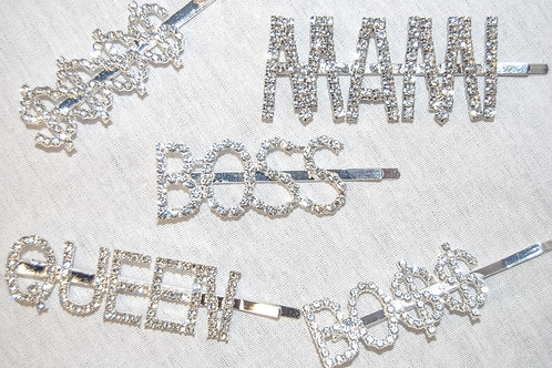 "The ""Boss Babe"" Hair Pin- Silver"