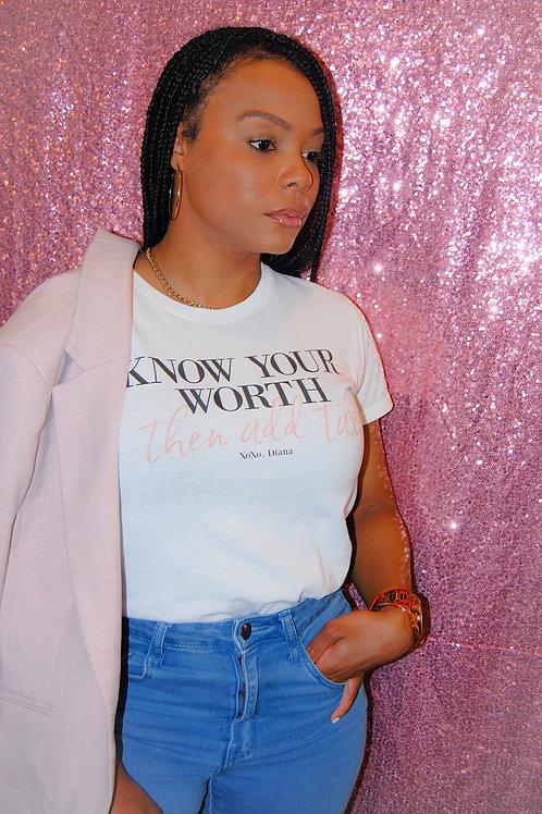 KYW Plus Tax T Shirt- White