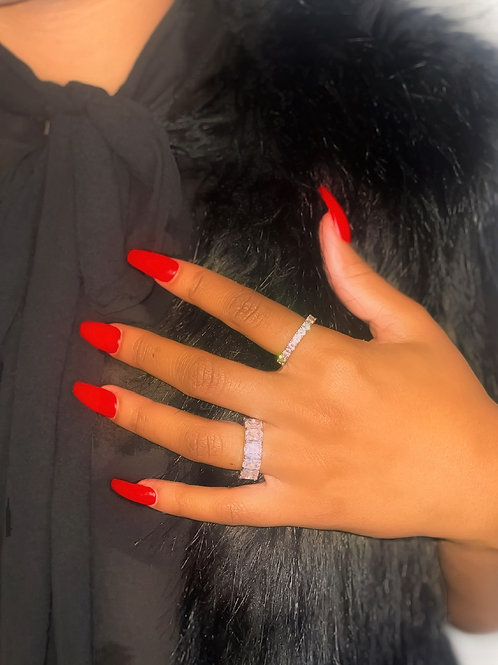 """""""Forever Icy"""" Eternity Band- Silver"""