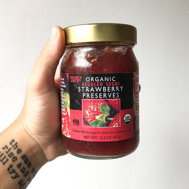 Organic Reduced Sugar Strawberry Preserves