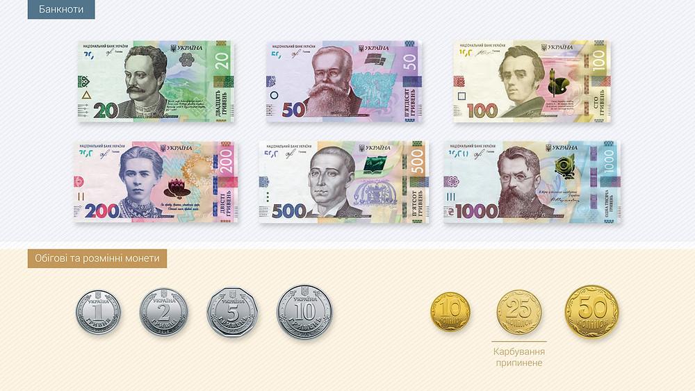 Так виглядатиме банкнотний-монетний ряд після завершення оптимізації. Графіка НБУ.
