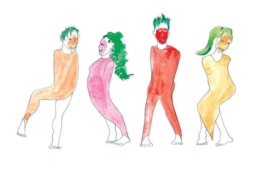 costumes carottes maquette