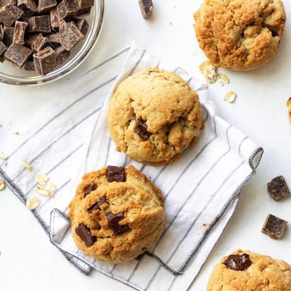 Chocolate Chunk Tahini Cookies (Air-Fryer Recipe)