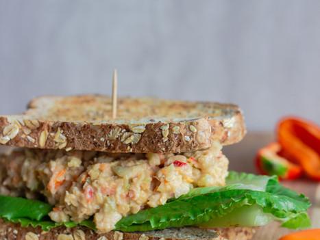 Chickpea Chicken Salad Sandwiches