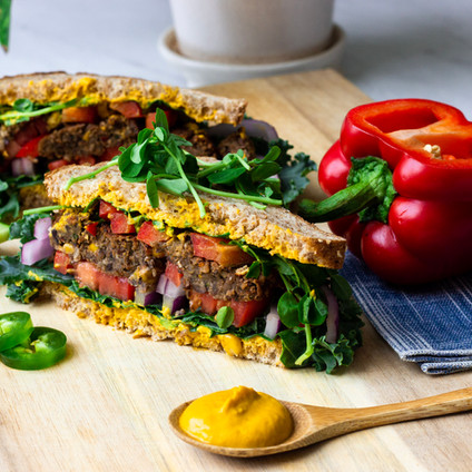 Southwest Black Bean Burgers (Air-Fryer Recipe)