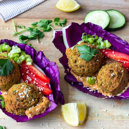 Gluten-Free Falafel with Tahini Sauce (Air-Fryer Recipe)