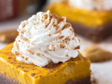 No Bake Pumpkin Pie Brownies