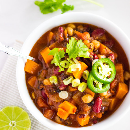 15-Minute Sweet Potato Chili