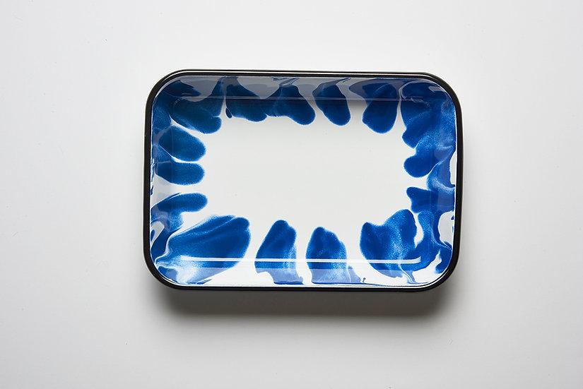Fuente L rectangular Enlozado Azul