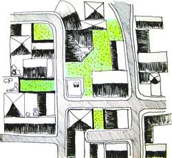 Vista barrio desde arriba