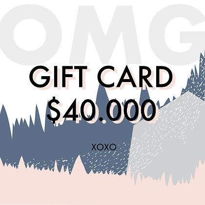 Gift Card $40.000