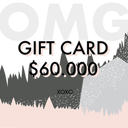 Gift Card $60.000
