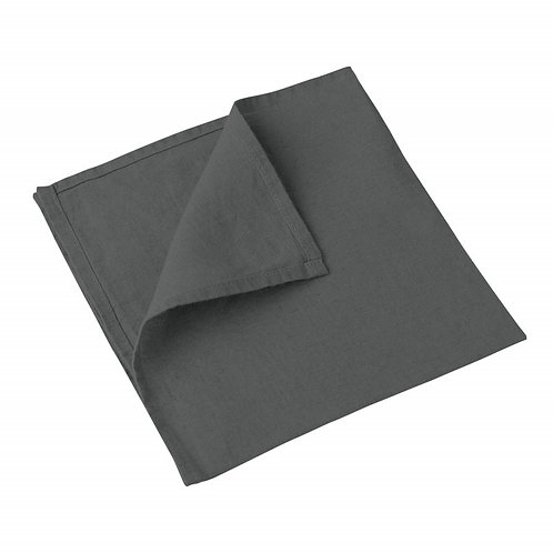 Serviette de Table ANTHRACITE - 100% Lin - PERSONNALISABLE