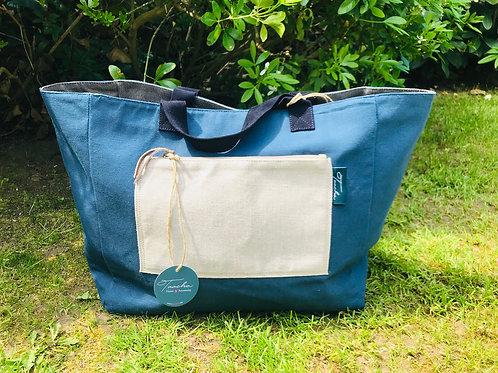 Daily Bag Medium - Natural - Blue Ladi