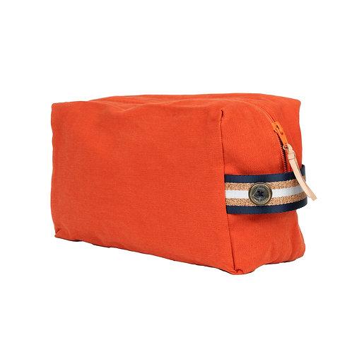 Trousse de Toilette CUBE - Orange - Personnalisable