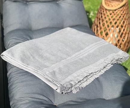 Serviettes de Plage Haut de gamme lin-coton