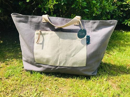 Daily Bag BIG - Natural - Grey Pat
