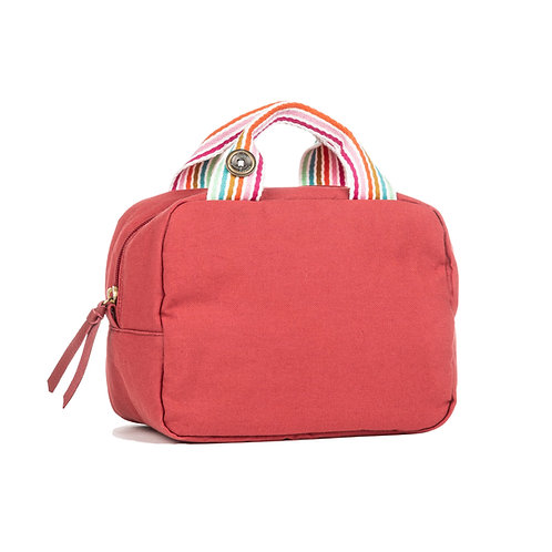 Lunch Bag isotherme - Framboise - Rayures Multi Couleurs