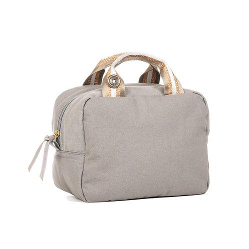 Lunch Bag isotherme - Naturel - Gris - Beige / Doré / Blanc
