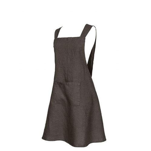 Dark apron - 100% Linen - CUSTOMIZABLE