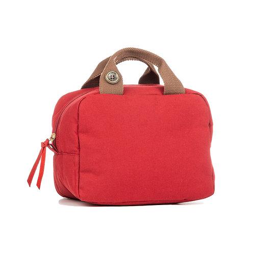 Lunch Bag isotherme - Cerise - Uni Brun