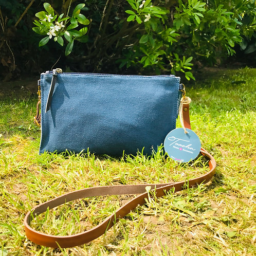Pocket Bag - Natural - Blue Ladi