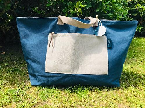 Daily Bag Big - Natural - Blue Ladi