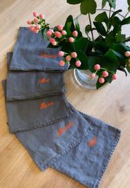 Serviettes de Table Lin - Personnalisable - Lovely Taacha