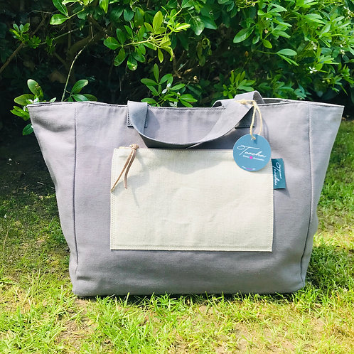 Daily Bag Medium - Natural - Grey Pat