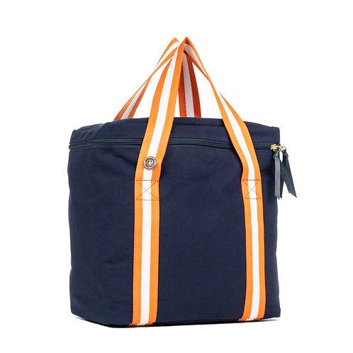 Cool Bag isotherme - Bleu Marine - Orange / Blanc