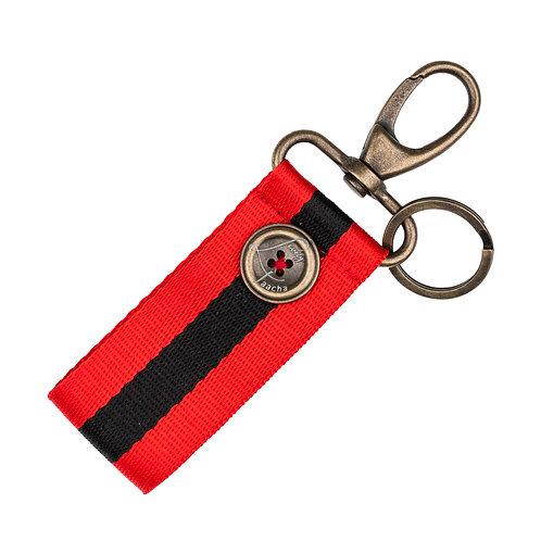 Porte-Clés MINI - Rayures - Rouge / Noir
