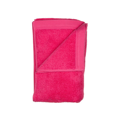 Serviette de bain MAXI - ROSE FUSHIA - PERSONNALISABLE - Premium